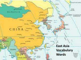 East Asia Vocabulary Words