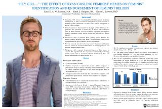 """HEY GIRL…"":  THE EFFECT OF RYAN GOSLING FEMINIST MEMES ON FEMINIST"