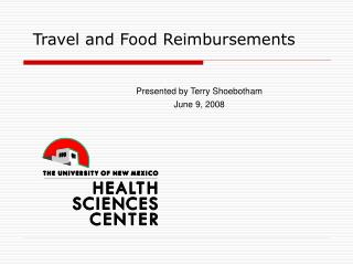 Travel and Food Reimbursements