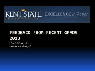 Feedback from Recent Grads 2013