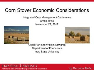 Corn Stover Economic Considerations