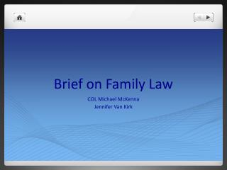 Brief on Family Law