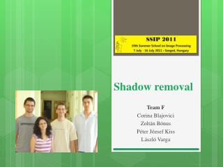 Shadow removal