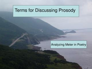 Terms for Discussing Prosody