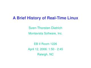 A Brief History of Real-Time Linux