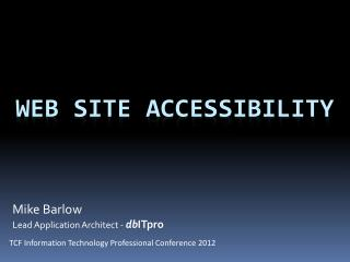Web Site Accessibility