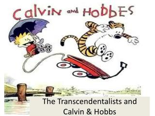 The Transcendentalists and Calvin & Hobbs