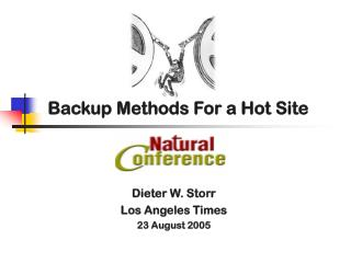 Backup Methods For a Hot Site
