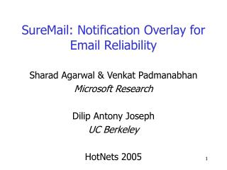 SureMail: Notification Overlay for Email Reliability
