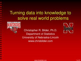 Turning data into knowledge to solve real world problems