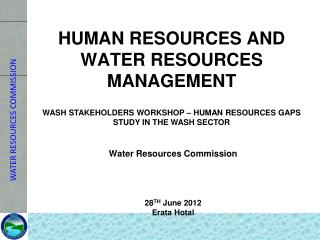 HUMAN RESOURCES AND WATER RESOURCES MANAGEMENT