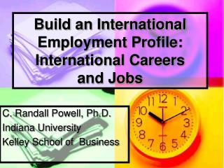 Build an International Employment Profile: International Careers  and Jobs