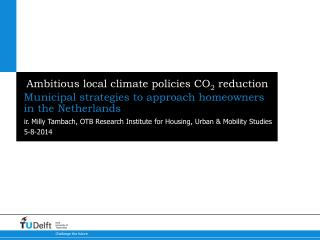 Ambitious local climate policies CO 2  reduction