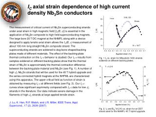 I C  axial strain dependence of high current density Nb 3 Sn conductors