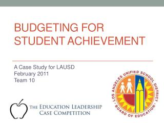 Budgeting for Student Achievement