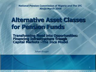 Alternative Asset Classes for Pension Funds