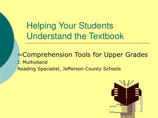 Helping Your Students Understand the Textbook