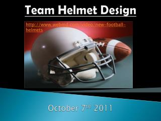 Team Helmet Design