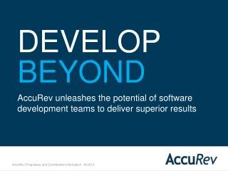 AccuRev Developer Training