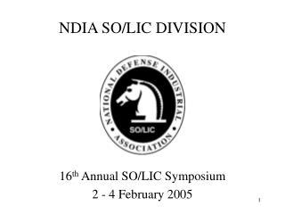 NDIA SO/LIC DIVISION