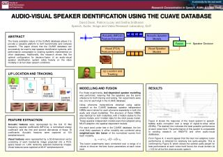 AUDIO-VISUAL SPEAKER IDENTIFICATION USING THE CUAVE DATABASE