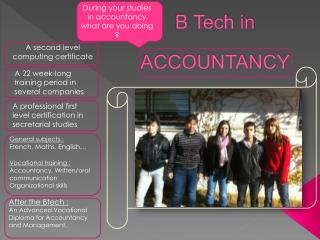 B Tech in ACCOUNTANCY