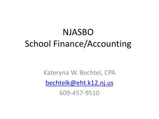 NJASBO School Finance/Accounting