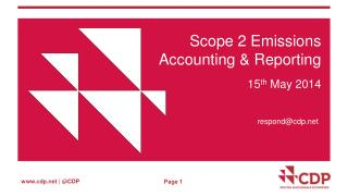 Scope 2 Emissions Accounting & Reporting
