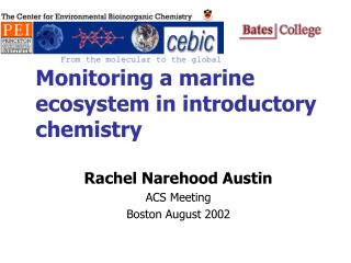 Monitoring a marine ecosystem in introductory chemistry