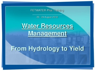 HISTORICAL DEVELOPMENT OF HYDROLOGY