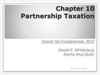 Chapter 10 Partnership Taxation
