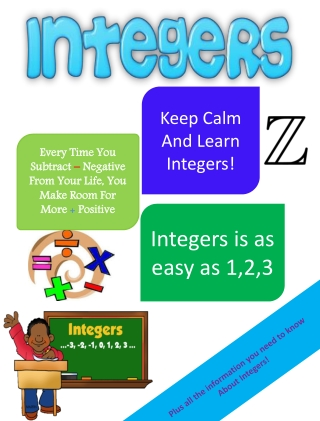 Plus all the information you need to know About Integers !