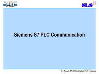 Siemens S7 PLC Communication