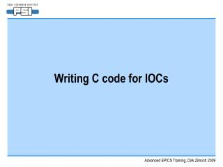 Writing C code for IOCs