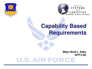 Capability Based Requirements
