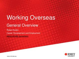 Working Overseas   General Overview