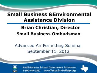 Small Business &Environmental Assistance Division