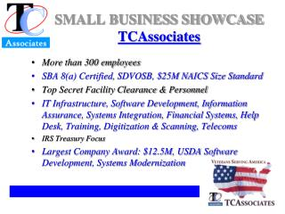 SMALL BUSINESS SHOWCASE TCAssociates