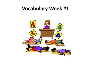 Vocabulary Week #1