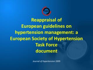 Journal of Hypertension  2 0 09
