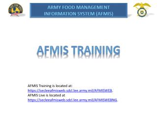 AFMIS Training