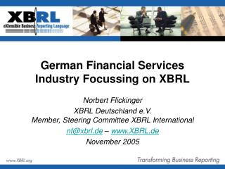 German Financial Services Industry Focussing on XBRL