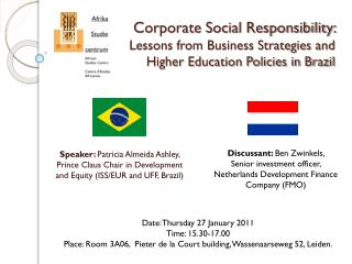 Date: Thursday 27 January 2011 Time: 15.30-17.00