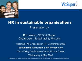 HR in sustainable organisations