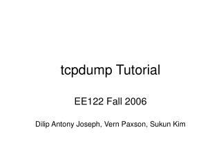 tcpdump Tutorial