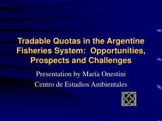 Tradable Quotas in the Argentine Fisheries System:  Opportunities, Prospects and Challenges