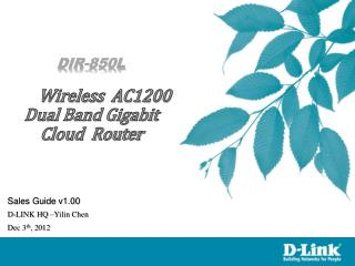 DIR-850L Wireless  AC1200 Dual Band Gigabit  Cloud  Router