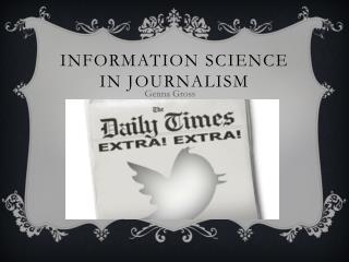 Information science in journalism