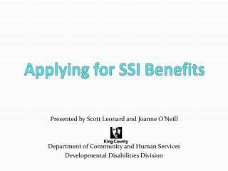 Applying for SSI Benefits