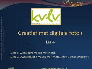 Cr eati ef met digitale foto's